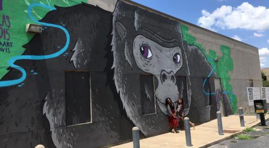 Harambe mural Houston